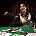 happy poker player